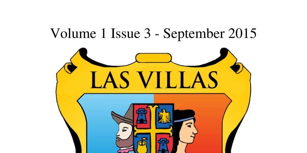 Las Villas del Norte Newsletter Volume 1 Issue 3 – September 2015