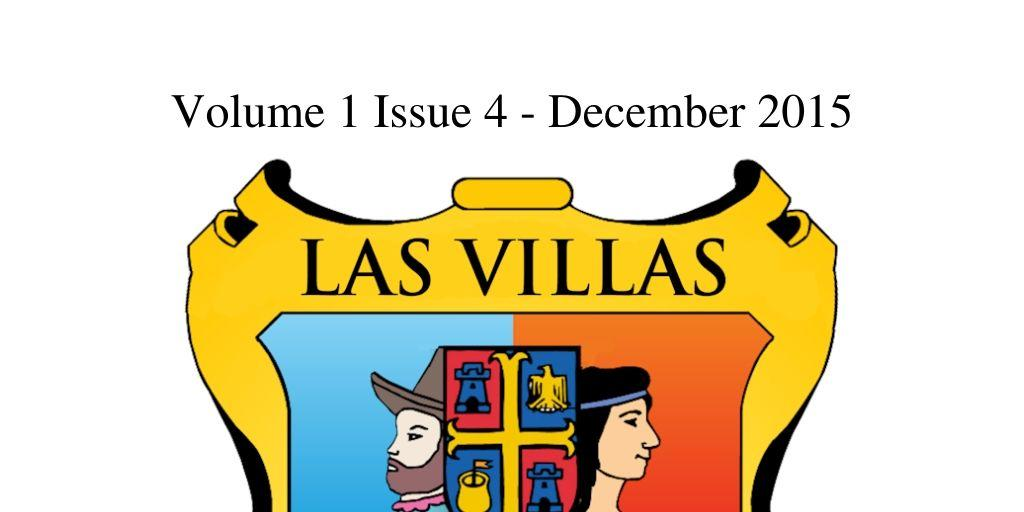 Las Villas del Norte Newsletter Volume 1 Issue 4 – December 2015