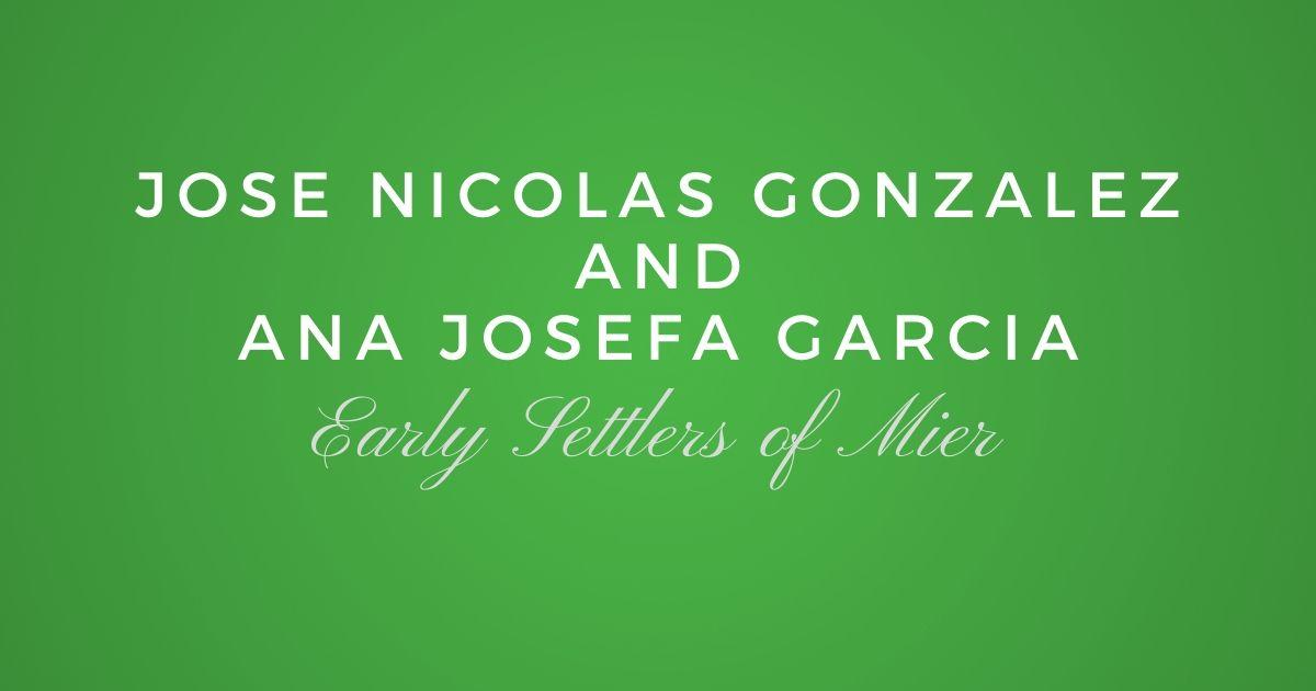 Jose Nicolas Gonzalez and Ana Josefa Garcia