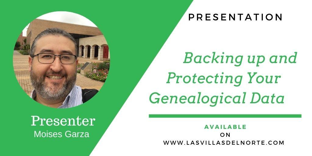 Backing up and Protecting Your Genealogical Data