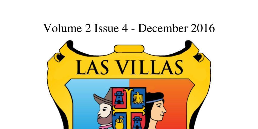 Las Villas del Norte Newsletter Volume 2 Issue 4 - December 2016