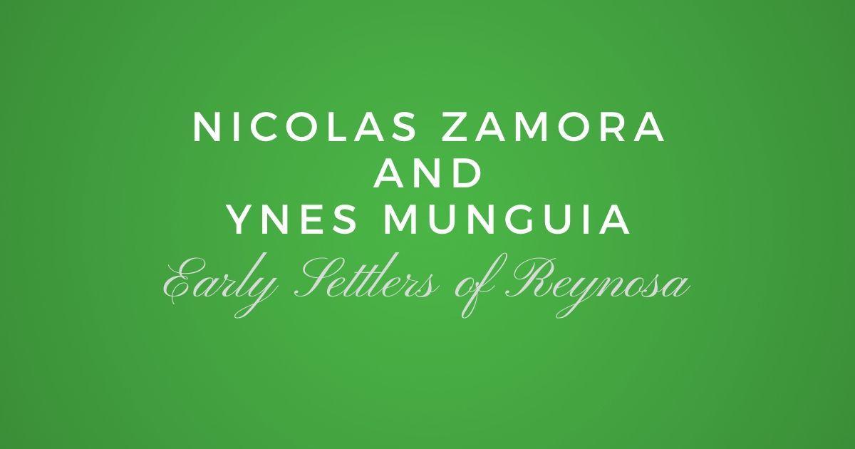 Nicolas Zamora and Ynes Munguia