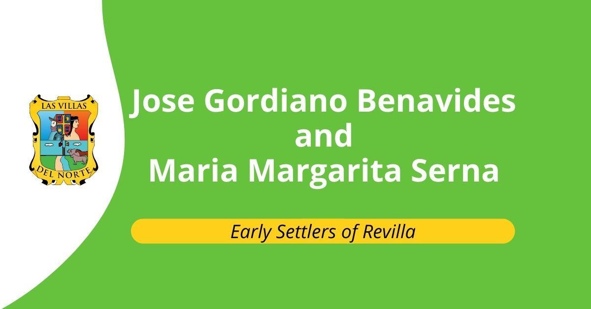 Jose Gordiano Benavides and Maria Margarita Serna