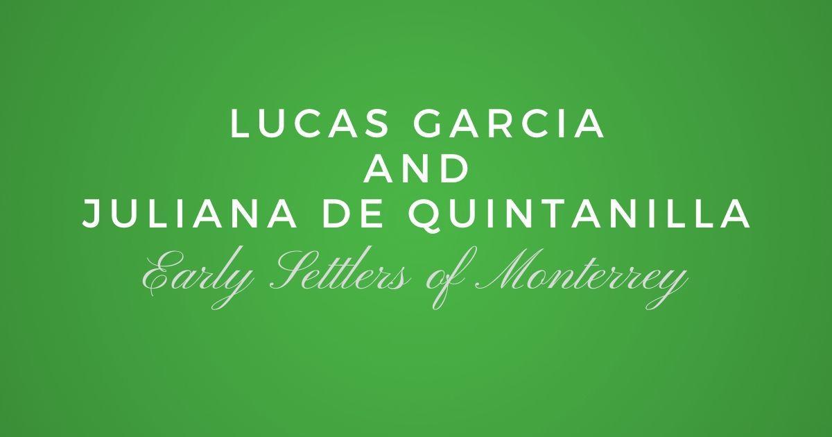 Lucas Garcia and Juliana de Quintanilla