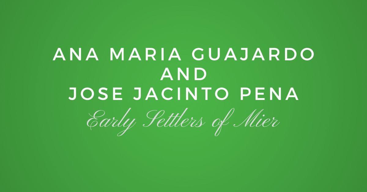 Ana Maria Guajardo and Jose Jacinto Pena