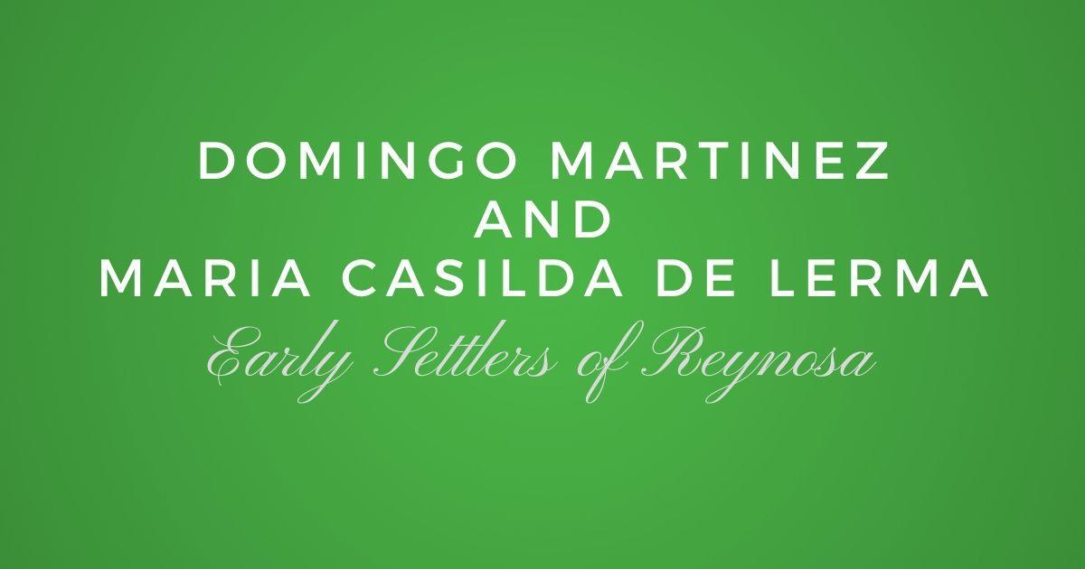 Domingo Martinez and Maria Casilda de Lerma