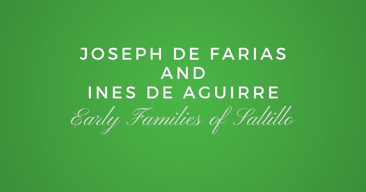 Joseph de Farias and Ines de Aguirre
