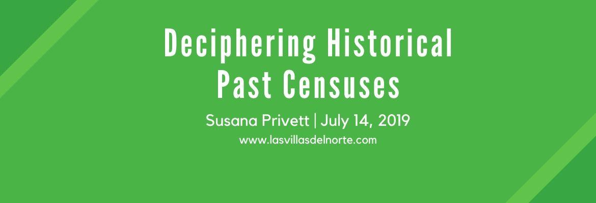 Deciphering Historical Past Censuses
