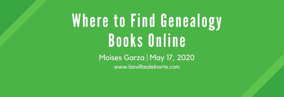 Where to Find Genealogy Books Online