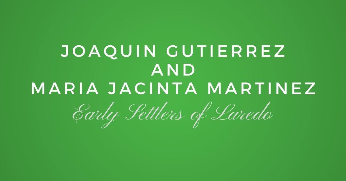 Joaquin Gutierrez and Maria Jacinta Martinez