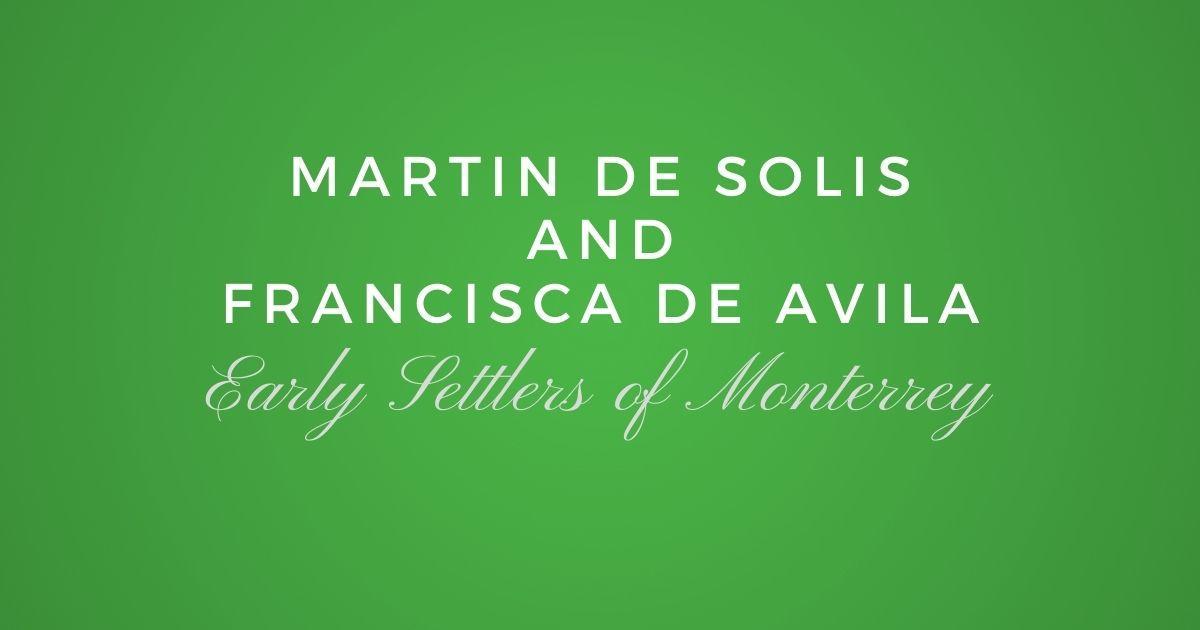 Martin de Solis and Francisca de Avila