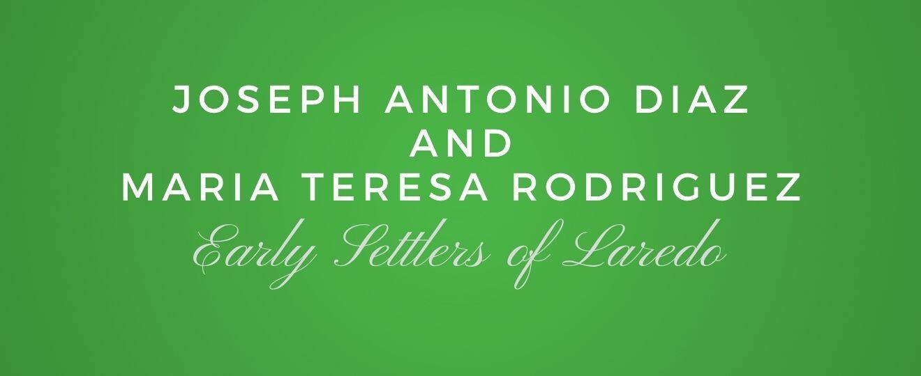 Joseph Antonio Diaz and Maria Teresa Rodriguez