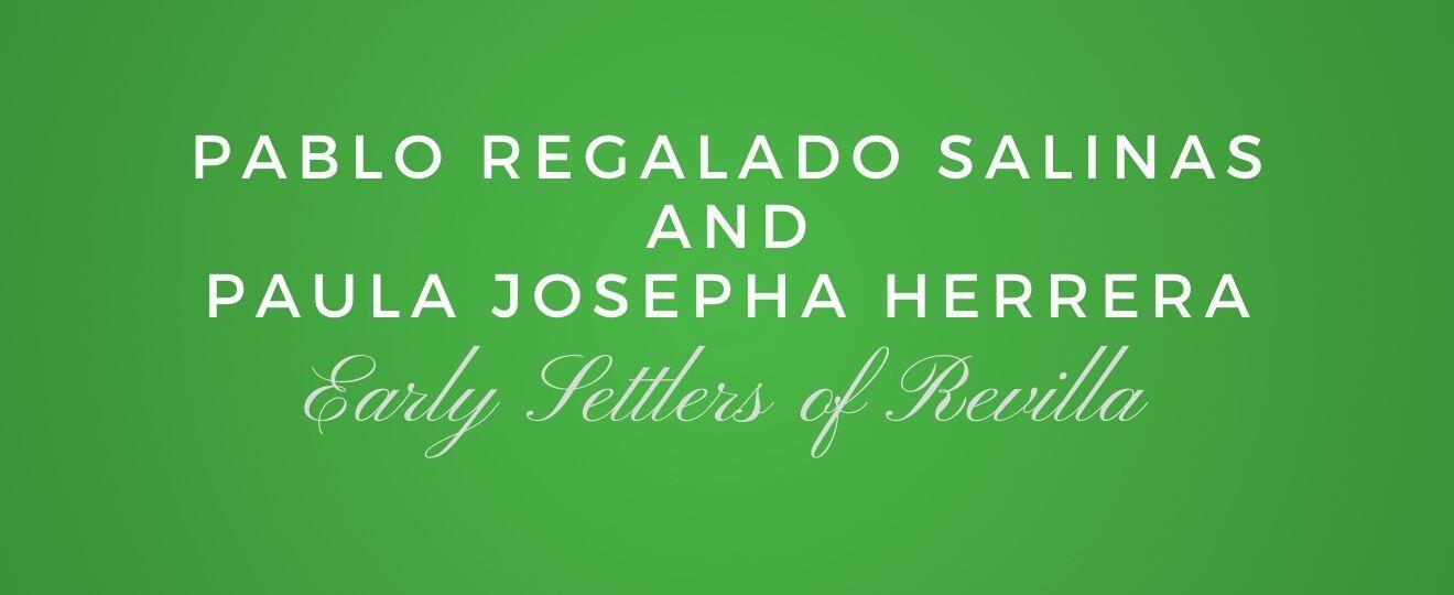 Pablo Regalado Salinas and Paula Josepha Herrera