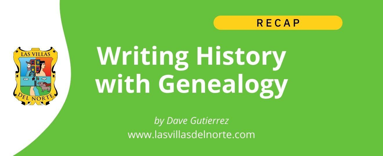 Writing History With Genealogy