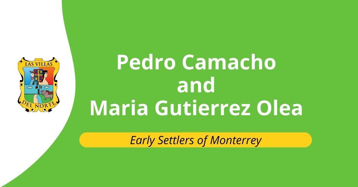 Pedro Camacho and Maria Gutierrez Olea